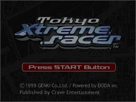 Title screen of Tokyo Xtreme Racer on the Sega Dreamcast.