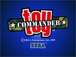 Title screen of Toy Commander on the Sega Dreamcast.
