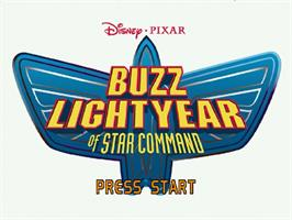 Title screen of Toy Story 2: Buzz Lightyear of Star Command on the Sega Dreamcast.