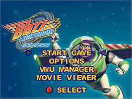 Title screen of Toy Story 2: Buzz Lightyear to the Rescue on the Sega Dreamcast.