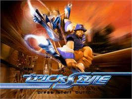 Title screen of Trickstyle on the Sega Dreamcast.