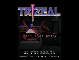 Title screen of Trizeal on the Sega Dreamcast.