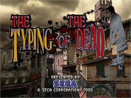 Title screen of Typing of the Dead, The on the Sega Dreamcast.