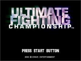Title screen of Ultimate Fighting Championship on the Sega Dreamcast.
