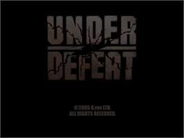 Title screen of Under Defeat on the Sega Dreamcast.