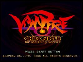 Title screen of Vampire Chronicle For Matching Service on the Sega Dreamcast.