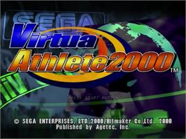 Title screen of Virtua Athlete 2K on the Sega Dreamcast.