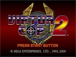 Title screen of Virtua Cop 2 on the Sega Dreamcast.