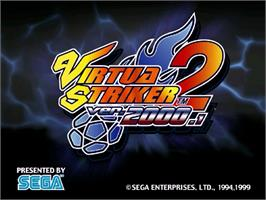 Title screen of Virtua Striker 2 Ver. 2000 on the Sega Dreamcast.
