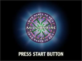 Title screen of Who Wants to Be a Millionaire? on the Sega Dreamcast.