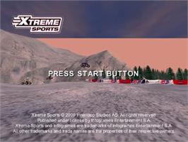 Title screen of Xtreme Sports on the Sega Dreamcast.
