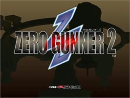 Title screen of Zero Gunner 2 on the Sega Dreamcast.