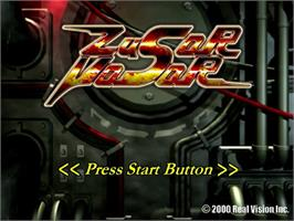 Title screen of Zusar Vasar on the Sega Dreamcast.