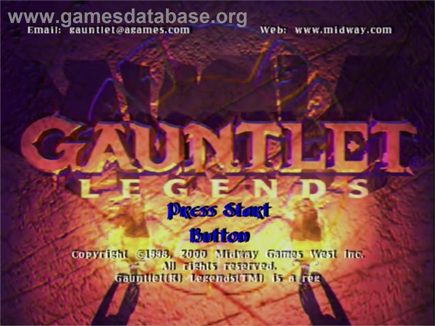 Gauntlet Legends - Sega Dreamcast - Artwork - Title Screen