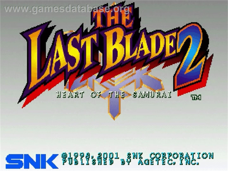 screen of Last Blade 2: Heart of the Samurai on the Sega Dreamcast