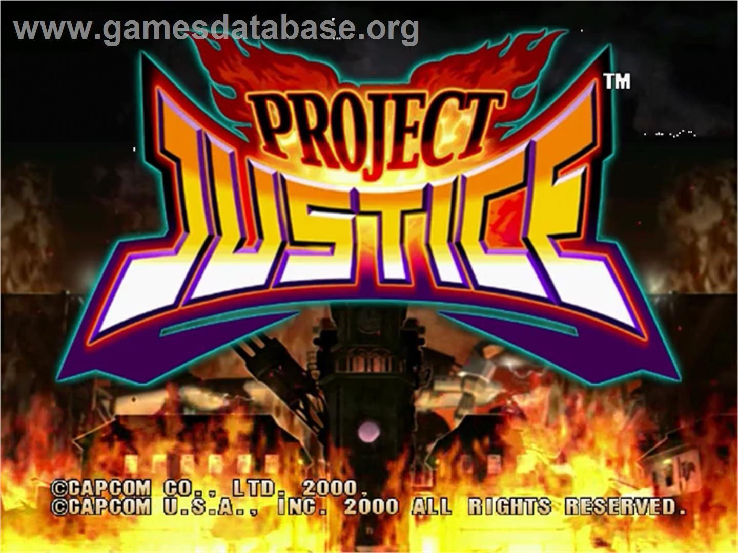 screen of Project Justice: Rival Schools 2 on the Sega Dreamcast