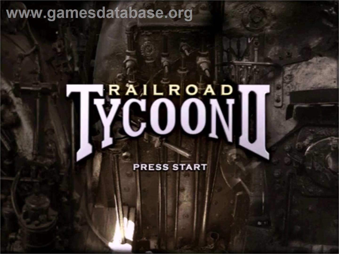 screen of Railroad Tycoon II (Gold Edition) on the Sega Dreamcast