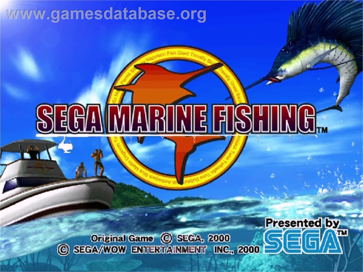 Sega Marine Fishing - Sega Dreamcast - Artwork - Title Screen