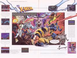 Advert for X-Men: Mojo World on the Sega Game Gear.