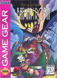 Box cover for Adventures of Batman and Robin on the Sega Game Gear.