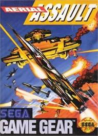 Box cover for Aerial Assault on the Sega Game Gear.