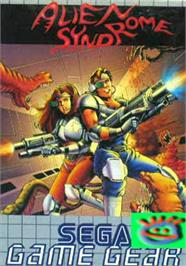 Box cover for Alien Syndrome on the Sega Game Gear.