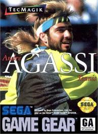 Box cover for Andre Agassi Tennis on the Sega Game Gear.