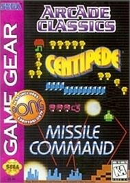 Box cover for Arcade Classics on the Sega Game Gear.