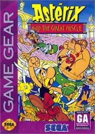 Box cover for Astérix and the Secret Mission on the Sega Game Gear.