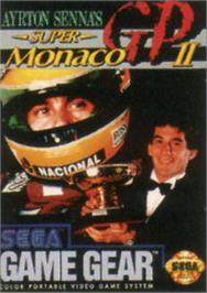 Box cover for Ayrton Senna's Super Monaco GP 2 on the Sega Game Gear.