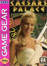 Box cover for Caesar's Palace on the Sega Game Gear.