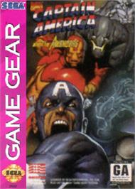 Box cover for Captain America and The Avengers on the Sega Game Gear.
