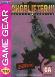 Box cover for Choplifter 3 on the Sega Game Gear.