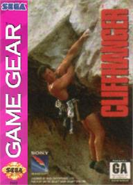 Box cover for Cliffhanger on the Sega Game Gear.