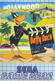 Box cover for Daffy Duck in Hollywood on the Sega Game Gear.