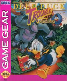 Box cover for Deep Duck Trouble starring Donald Duck on the Sega Game Gear.