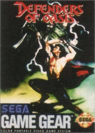 Box cover for Defenders of Oasis on the Sega Game Gear.