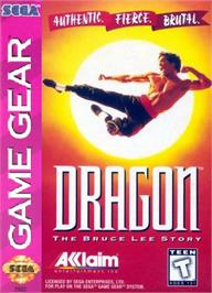 Box cover for Dragon: The Bruce Lee Story on the Sega Game Gear.
