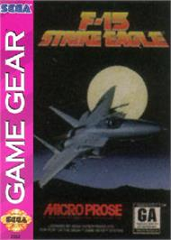 Box cover for F-15 Strike Eagle on the Sega Game Gear.