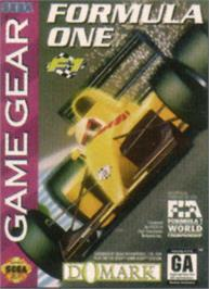 Box cover for F1 on the Sega Game Gear.