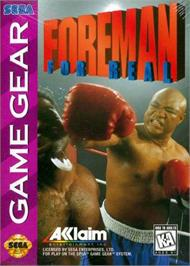 Box cover for Foreman for Real on the Sega Game Gear.
