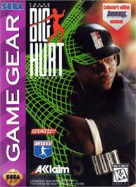Box cover for Frank Thomas Big Hurt Baseball on the Sega Game Gear.