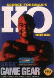 Box cover for George Foreman's KO Boxing on the Sega Game Gear.