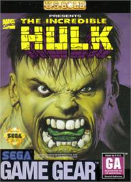 Box cover for Incredible Hulk on the Sega Game Gear.