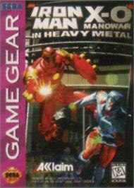 Box cover for Iron Man / X-O Manowar in Heavy Metal on the Sega Game Gear.