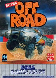 Box cover for Ironman Ivan Stewart's Super Off-Road on the Sega Game Gear.