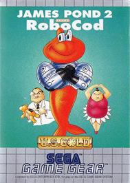 Box cover for James Pond 2: Codename: RoboCod on the Sega Game Gear.