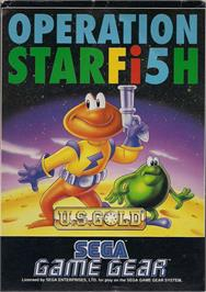 Box cover for James Pond 3: Operation Starfish on the Sega Game Gear.