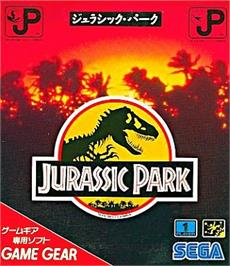 Box cover for Jurassic Park on the Sega Game Gear.