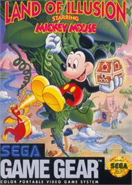 Box cover for Land of Illusion starring Mickey Mouse on the Sega Game Gear.